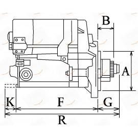 MOTORINO AVVIAMENTO 12V 2.7KW 23-113114