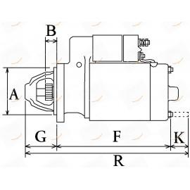 MOTORINO AVVIAMENTO 12V 3.0KW 23-115535